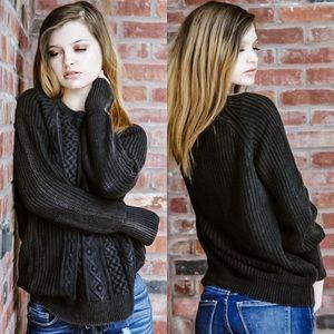 "Black ""Washed"" Sweater"